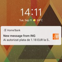 Notificare PUSH ING Pay